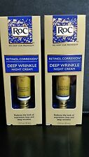 RoC Retinol Correxion Deep Wrinkle Night Cream, 1.0 oz - (2) Pack