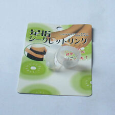 Slimming White Silicon Foot Rings Massage Lose Weight Fat Burner Toe Ring New