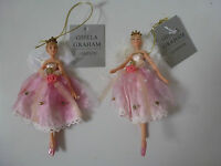 Gisela Graham Fairy Princess Resin/Fabric Christmas Decoration (2 asst) 11cms