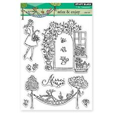 PENNY BLACK RUBBER STAMPS CLEAR RELAX AND ENJOY STAMP SET 2014