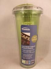 Trudeau Leak Proof Tumbler Cup with Straw Dishwasher Safe Double Wall 20oz Green