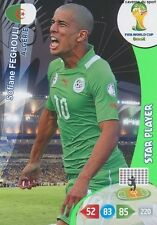 N°003 FEGHOULI STAR PLAYER # ALGERIA PANINI CARD ADRENALYN WORLD CUP BRAZIL 2014