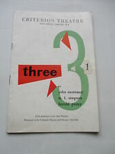 1961 HAROLD PINTER  RICHARD BRIERS CRITERION THEATRE PROGRAMME THREE