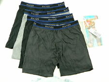 Hanes $40 BLACK Gray SZ XL (40-42) MEN 4-PK Boxer Brief UNDERWEAR LOT SALE P12