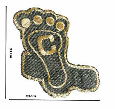 Foot Iron on Embroidered Patches Patch Badge Badges Logo motif #264