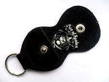 MOTORHEAD LEMMY Ace of Spades   Guitar .7mm Pick With Leather Keyring Holder