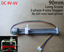 long 90mm 2-phase 4-wire stepper motor lead screw slider DIY Mini Laser printer