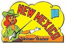 New Mexico Pin-Up Girl   NM   Vintage Looking  Travel Decal  Sticker Label