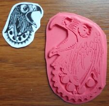 NEW STEAMPUNK EAGLE GEAR  Unmounted VIVA LAS VEGAS Mixed Media Rubber Stamp