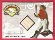 LANCE BERKMAN 2001 Fleer Platinum Lumberjacks GAME USED BAT Houston Astros MLB *