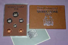 1980 ROYAL MINT PROOF SET COINS FOR SIERRA LEONE REPUBLIC
