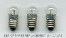 3 MINI LAMPS / BULBS FOR ZENITH ROYAL D7000 SERIES TRANSOCEANIC RADIO