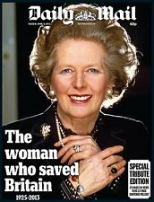 MARGARET (MAGGIE) THATCHER UK DAILY MAIL NEWSPAPER TRIBUTE EDITION APRIL 9 2013