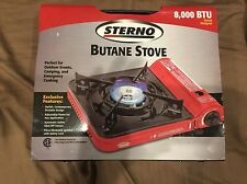 STERNO 8,000 BTU BUTANE CAMPING EMERGENCY COOKING STOVE SAFETY LOCK TAILGATING