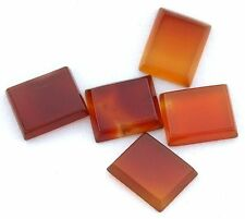 FOUR 12x10 12mm x 10mm Rectangular Carnelian Cab Cabochon Gem Gemstone cc17