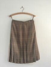 GENUINE VINTAGE BURBERRY WOOL CHECK PLEAT SKIRT