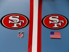 San Francisco 49ers Niners helmet decals set