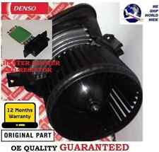 FOR VAUXHALL CORSA D 2007-  DENSO NO AIR CON FAN HEATER BLOWER MOTOR + RESISTOR