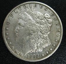 US Coin 1892-S Morgan Silver Dollar Grading AU Cleaned            g74