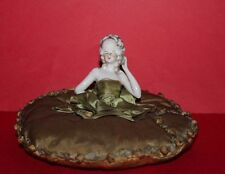 Vintage Pin Cushion Porcelain Half Doll