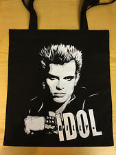 BILLY IDOL   BLACK COTTON  TOTE BAG