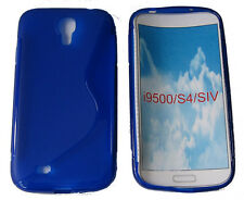 TPU Rubber Gel Case Protector Cover For Samsung Galaxy S4 SIV GT i9500 Blue UK