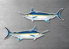 Sword fish stickers 2 pack quality water & fade proof 7 year vinyl boat fishing