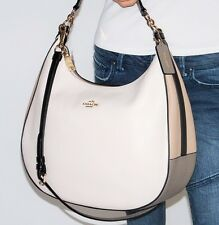 NWT Coach Harley Colorblock Leather Lg Hobo Shoulder Hand Bag Xbody Purse 57500