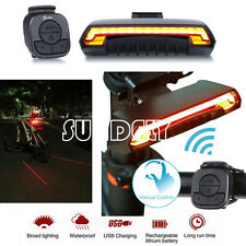 Bicycle Bike Rear Tail Laser LED Indicator Turn Signal Light Wireless Remote UK