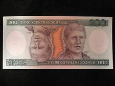 Lot of 27 UNC Sequential Banco Central Do Brasil 200 Duzentos Cruzeiros