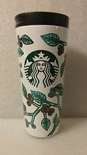 2016 Starbucks Stainless Steel Tumbler White Green Red16 oz