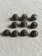 "10 MARINE CORPS UNIFORM BUTTONS 1"" Hilborn-Hamberger Inc USMC NEW OLD STOCK"