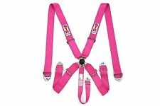 STR 5 Point Racing Safety Harness Seat Belt SFI Aircraft Cam Lock Release PINK
