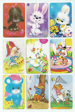 #600.010 Blank Back Swap Cards -MINT- Lot of 9 - Colourful Animals & Critters