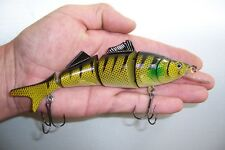 MINNOW SWIMMER FOUR SEGMENT FISHING LURE CRANKBAIT RATTLE BAIT TACKLE 17cm MS3