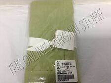 Pottery Barn Classic Linen Hemstitch Kitchen Dining Napkins Cactus Green Set 4