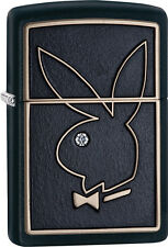 Zippo Choice Playboy Emblem with Crystal Black Matt WindProof Lighter 28816