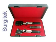 Ophthalmoscope Opthalmoscope Otoscope Fibre-Optic Diagnostic Set + 2 FREE Bulbs