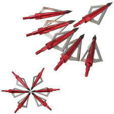 6pcs Blood Runner Broadheads 100 Grain Broad Arrow Heads Archery Hunting Tips