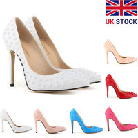 Womens High Heels Pointed Corset Stiletto Pumps Rivet Court Shoes Studs Size 2-9