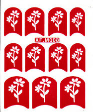 Nail Art Decal Stencil Stickers Pretty Flowers XF.M008