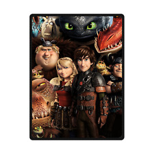 New Arrival Custom How To Train Your Dragon Travel Home Soft Blanket 58x80 inch
