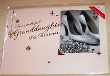 BNIP New M&S Marks & Spencer Handcrafted Christmas Card for Granddaughter