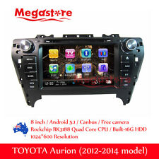"8"" Android Car DVD GPS Head Uint Nav Quad Core For TOYOTA Aurion 2012-2014"