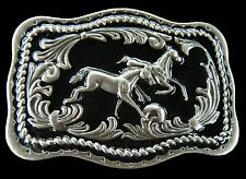 Western Horses Equestrian Ranch Farm Cowboy Cowgirl Belt Buckle Boucle Ceinture