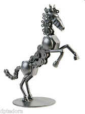 Hand Crafted Recycled Metal Rearing Horse  Art Sculpture Figurine