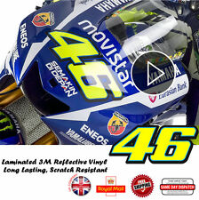 2x Valentino Rossi 46 New Version Laminated 3M Reflective Decals Sticker 148mm
