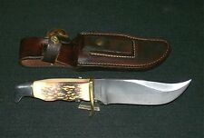 Schrade Walden Uncle Henry 171UH Knife Big Pro Hunter #13154 Circa-1971 W/Sheath