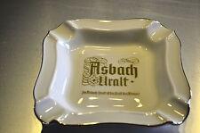 1 Asbach Uralt Aschenbecher 14,5x14,5cm mit Goldrand von Fa. Heinrich NEU
