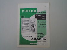 advertising Pubblicità 1958 FRIGORIFERO PHILCO ATLANTIC 210 LITRI